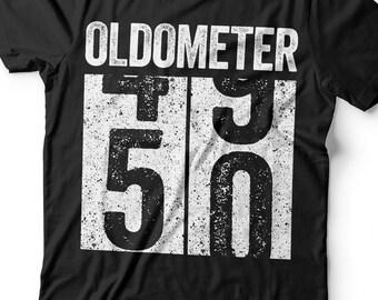 757aa876b Oldometer 50 T-Shirt - Unisex Funny 50 AF Mens 50 th Birthday Shirt - Born  in 1969 Gift Vintage TShirt