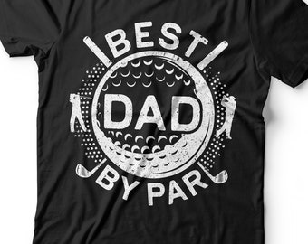 1d5ef08c Best Dad By Par T-Shirt - Unisex Funny Mens Golfer Papa Daddy Shirt -  Vintage Golf Dad TShirt Golfing Gift for Father's Day