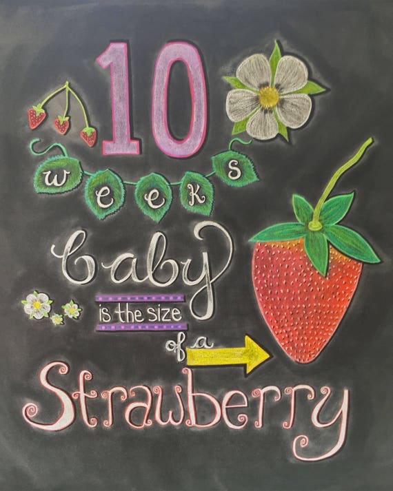 10 Weeks Pregnancy Chalkboard Sign - Maternity Photo Prop - Weekly Baby  Bumpdate - DIY Chalkboard Printable - Instant Download - 8x10 JPG