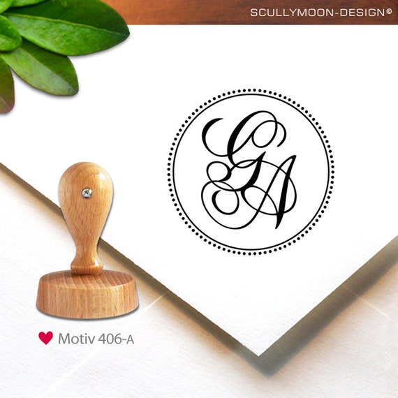 custom stamp Stempel personalized 406-a -personalized 3.4 cm monogram stamp