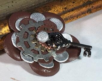 KEYED UP Steampunk Pin