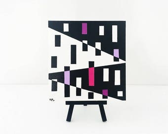 Original Mini Painting with Easel