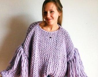 Fancy Sleeves Jumper Knitting Pattern
