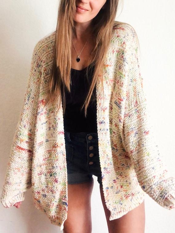 Cotton summer cardigan knitting kit UK size 10-12