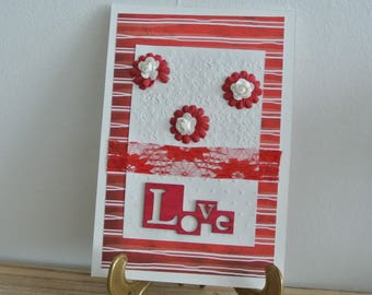 Card - Valentine's Day card - Love - Fleur Rouge and white