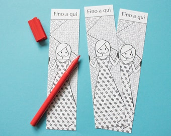 """Bookmark coloring """"Up in here"""""""