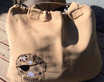 BIG TRENDY BAG with tatoo motive
