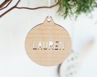 Custom Laser Scored Name Ornament