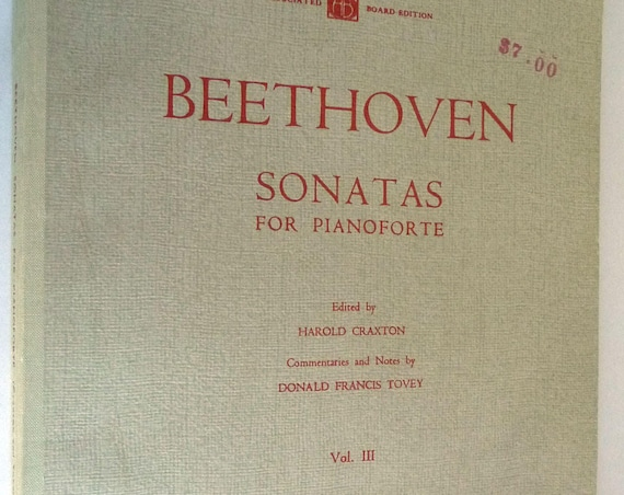 Beethoven Sonatas for Pianoforte Volume III Royal Schools of Music London 1958 Song Book
