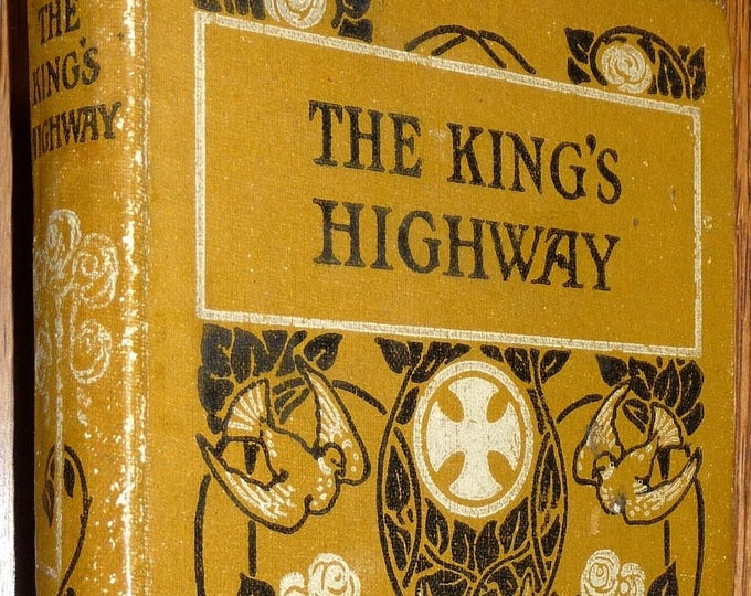 Kings Highway Illustrations of Commandments by Richard Newton Hardcover HC Ca. 1870's Bible Religion Christianity