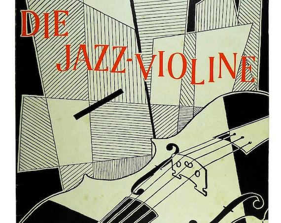 Die Jazz-Violine: Eine praktische Anleitung by Helmut Zacharias 1979 Schott - German Language Music Instruction Songbook