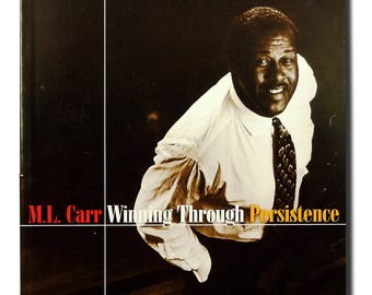 Winning Through Persistence 1997 M.L. Carr SIGNED - Soft Cover Paperback - NBA Basketball Player Coach Motivation