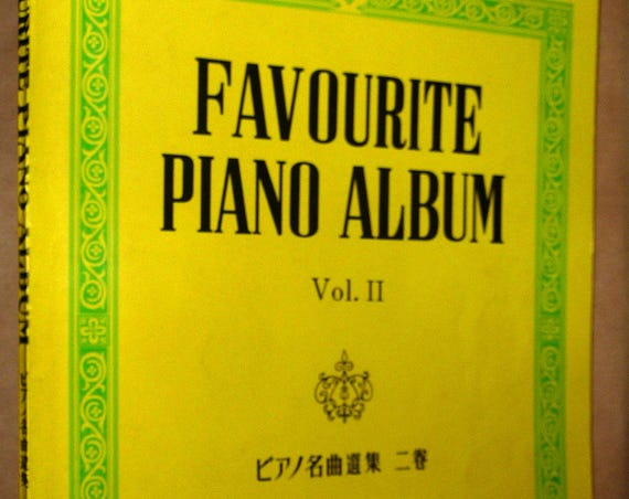 Favourite Piano Album Volume II - Edition Kyodo 1974 Soft Cover Songbook Sheet Music Tokyo, Japan