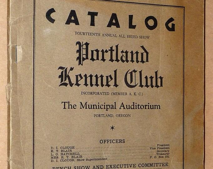 Catalog: Fourteenth (14th) Annual All Breed Show Portland Kennel Club 1936 Dogs - Brochure Flier Entries
