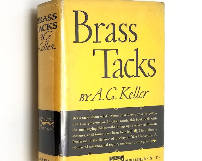 Brass Tacks by A.G. Keller 1938 1st Edition Hardcover HC w/ Dust Jacket DJ - Alfred A. Knopf -