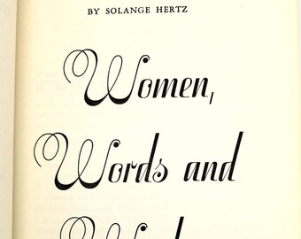 Women, Words and Wisdom by Solange Hertz Hardcover HC 1959 Newman Press - Catholic Women Religion Inspiration
