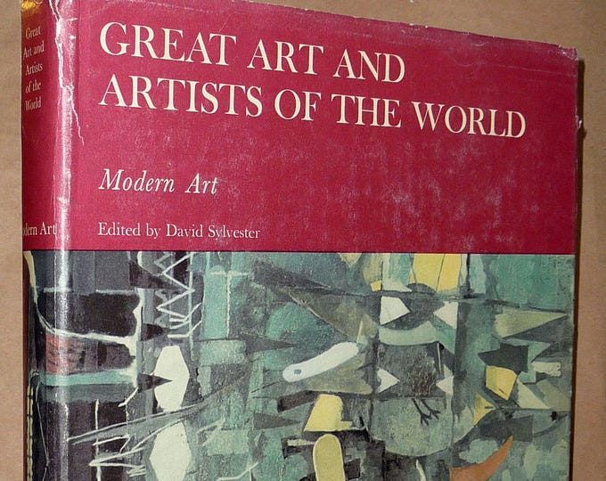 Great Art and Artists of the World (Volume 8): Modern Art by David Sylvester (ed) 1965 Hardcover HC w/ Dust Jacket - Franklin Watts NY