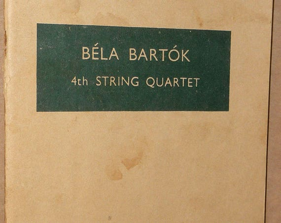 Bela Bartok 4th String Quartet (Hawkes Pocket Scores No. 77) Music Study Score 1939 Boosey & Hawkes
