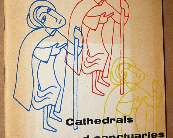Cathedrals & Sanctuaries France on Pilgrimage Routes Church Catholic Religion Saints Vintage Travel Tourism Guide Ca. 1950s/1960s