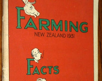 Farming New Zealand 1931: Facts Faults Fancy by Leslie Robert Cathcart Macfarlane Softcover Auckland, NZ
