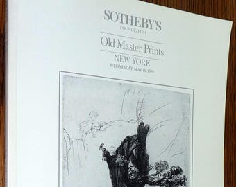 Sotheby's Old Master Prints Wednesday, May 16, 1990 Auction Catalog Art New York, NY