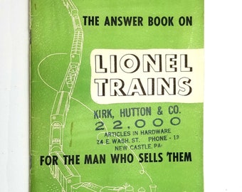 Vintage Sales Brochure: The Answer Book on Lionel Trains for the Man Who Sells Them 1951 Information Guide