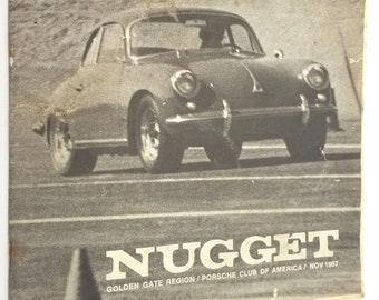 Nugget: Golden Gate Region Porsche Club of America, November 1967 Newsletter