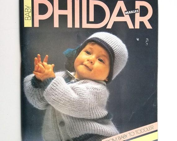 Baby Phildar Mailles No. 135 by R.C. Rubaux (editor) 1986 Knitting Magazine Designs Patterns - Paris