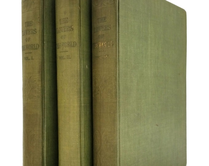 The Lovers of the World Vols. 1, 2, & 3 (3 Volume Set) Compiled by Edgar Saltus - Hardcover HC - Peter Fenelon Collier