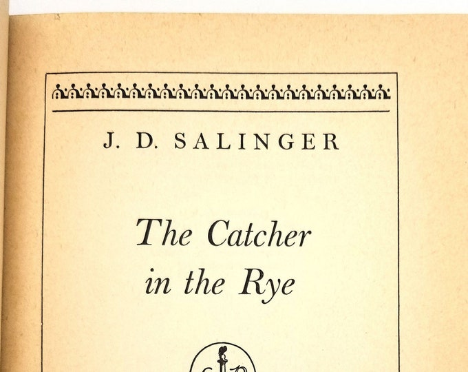 The Catcher in the Rye by J.D. Salinger 1st Edition, Early/12th Printing Hardcover 1951 Little, Brown & Co.