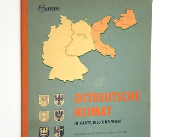 Ostdeutsche Heimat in Karte, Bild und Wort Soft Cover 1959 East Germany (GDR) Atlas - German Language