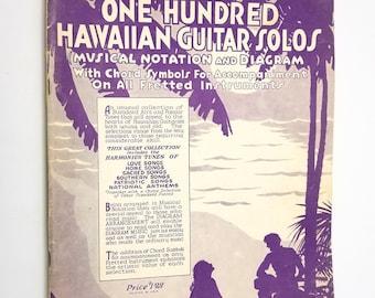 Smith's One Hundred Hawaiian Guitar Solos Kamiki / Wm. J. Smith 1932 Sheet Music / Songbook