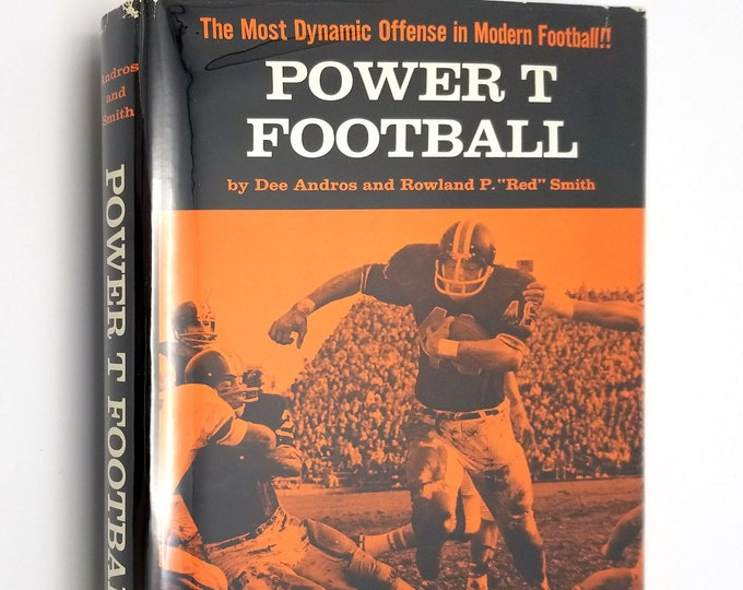 Power T Football by Dee G Andros 1st Edition Hardcover HC w/ Dust Jacket DJ 1971 Parker Publishing - Oregon State University
