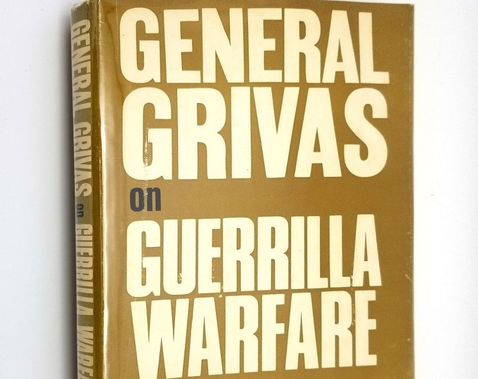 General Grivas on Guerrilla Warfare 1965 1st US Ed Hardcover HC w/ Dust Jacket DJ Greece Cyprus Enosis