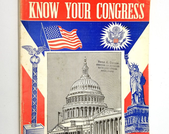Know Your Congress, 87th Congress, 2nd Session, 1962 Capital Publishers - History, Senators, Representatives