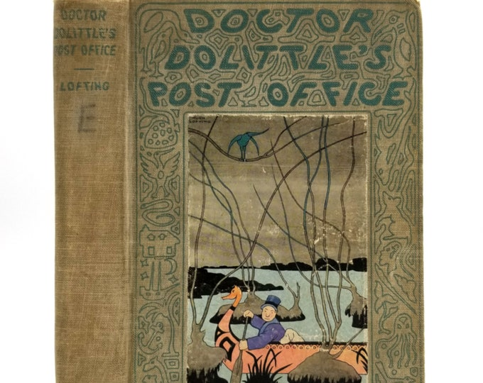 Doctor Dolittle's Post Office by Hugh Lofting 3rd (Early) Printing Hardcover HC 1923 Frederick Stokes Children Fiction