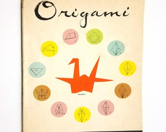 Origami: Japanese Art of Paper Folding (Volume 1) by Tokinobu and Hideko Mihara Soft Cover 1961  Oriental Culture Book Company
