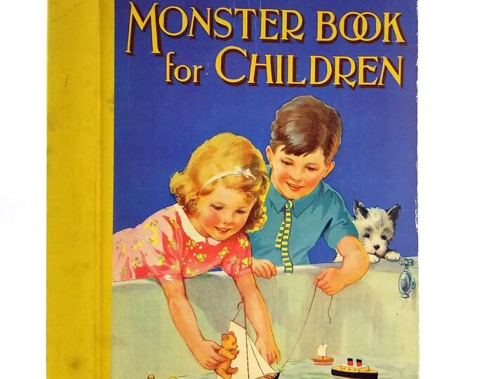 Monster Book for Children Hardcover HC Ca. 1945 Dean & Son, Ltd London Short Stories Various Authors