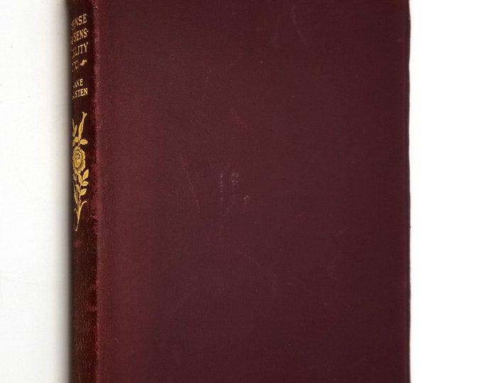 Classic Antique Fiction: Sense and Sensibility (and Persuasion) by Jane Austen Leather Bound Ca. 1910 Thomas Nelson