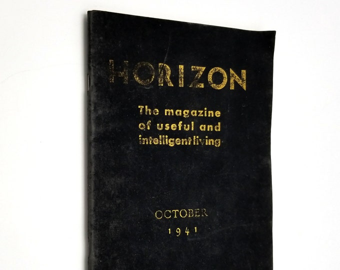 Horizon: The Magazine of Useful and Intelligient Living October 1941 Vol. 1, No. 3 Manly Palmer Hall
