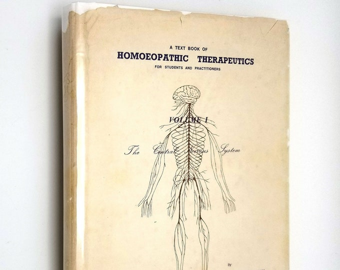 Text Book of Homoeopathic Therapeutics Vol 1: Central Nervous System by Prakash Vakil 1st Ed Hardcover/Dust Jacket 1977 Alternative Medicine