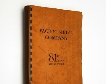 Vintage Catalog: Pacific Metal Company 1876-1956 (Eighty-First Year of Service) 1956 Stock List
