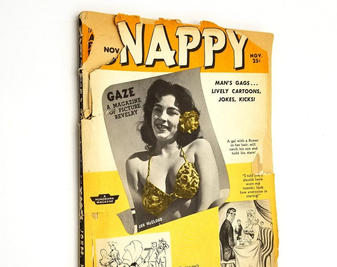 Mid Century Pin Up Magazine: Snappy Man's Gags Vol. 1 No. 11, November, 1955 - Betty Page and Others - Bill Ward