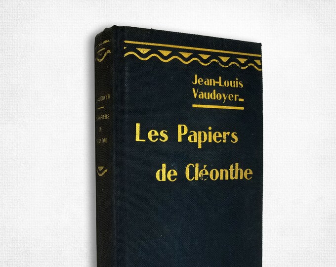 Vintage French Fiction: Les Papiers de Cleonthe by Jean-Louis Vaudoyer Hardcover 1919 French Language