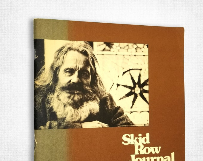 Skid Row Journal by Michael P. Jones 1977 Transit Bank Homelessess Tramps Hobos Portland OR