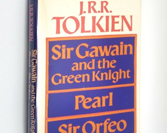 Sir Gawain and the Green Knight, Pearl, and Sir Orfeo translated by J.R.R. Tolkien 1975 1st US Edition Hardcover HC w/ Dust Jacket