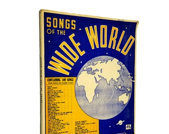 Vintage Songs: Songs of Wide World Sheet Music Songbook Australia ca 1930s 1940s Allan's Music Publishers Melbourne