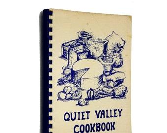Quiet Valley Cookbook by Quiet Valley Food Coop 1979 Bennington, VT - Vintage Cooking Recipes