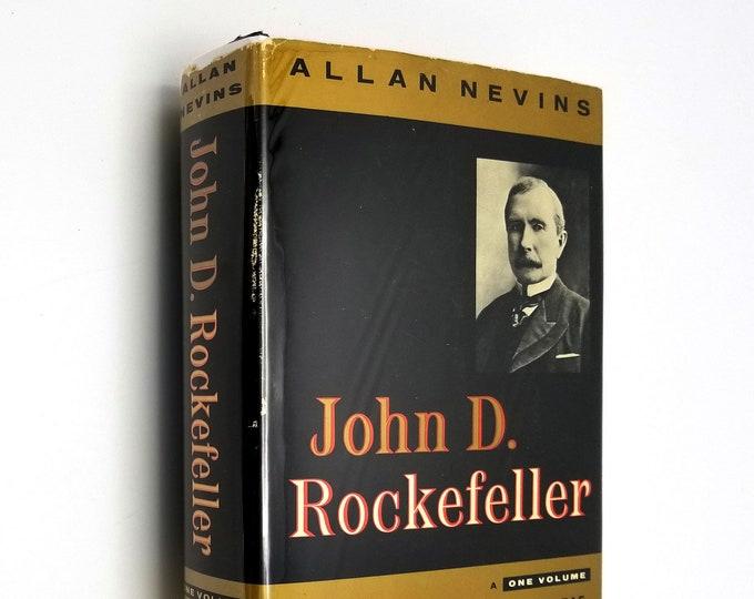 John D. Rockefeller: A One-Volume Abridgement by William Greenleaf Hardcover HC w/ Dust Jacket DJ 1959 Scribner's