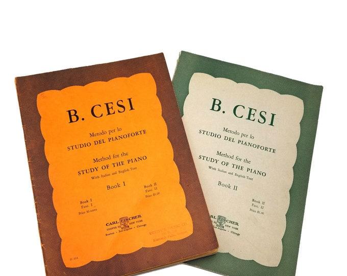 Method for the Study of the Piano (Metodo per lo Studio del Pianoforte), Books I & II by Beniamino Cesi Carl Fischer, Inc.